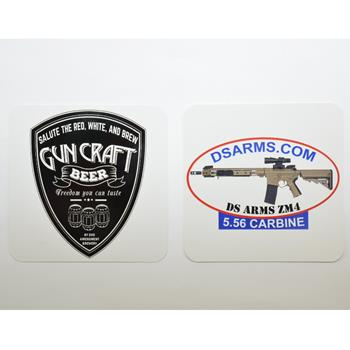 DS Arms & Gun Craft Beer Coasters - 12 Pack