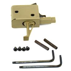 CMC Triggers AR15 3.5 Pound Drop In Trigger Assembly - Flat Face Trigger - FDE