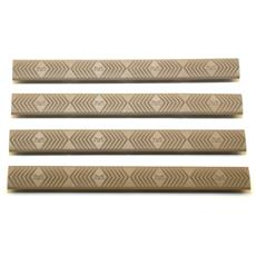 ERGO M-LOK 4 Slot Rail Cover - 4 Pack - Flat Dark Earth