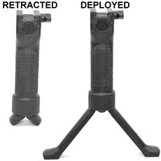 Grip Pod Systems Forward Vertical Grip & Integrated Bipod - Military Model - Polymer & Steel - V2 - Black