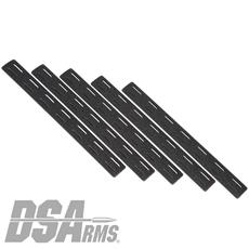 Bravo Company MCMR M-LOK Rail Covers - 5 Pack - Black