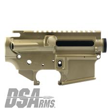 DSA ZM4 AR15 Enhanced Lower & Upper Receiver Set - DuraCoat FDE