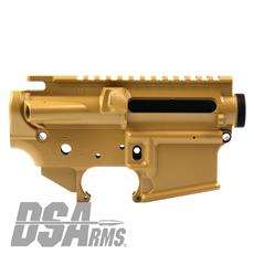 DSA ZM4 AR15 Enhanced Lower & Upper Receiver Set - DuraCoat Coyote