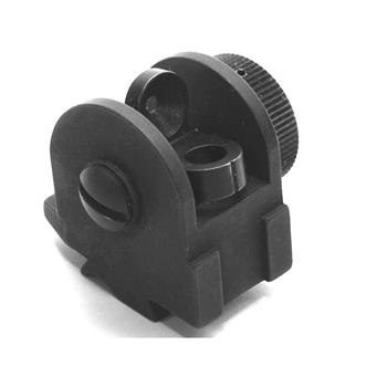 DSA FAL SA58 Metric PARA Rear Sight With Quick Adjust Windage Knob - Screws and Spring Included