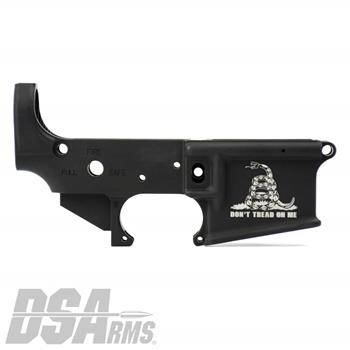 DSA AR15 ZM4 Stripped Lower Receiver - Engraved Gadsden Flag