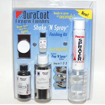 Duracoat Shake -N- Spray Finishing Kit - Matte Black