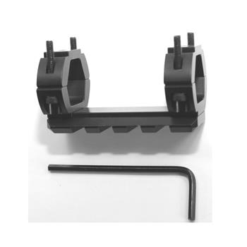 2 Inch rail for plain barrel shotguns fits up to 12 gauge, no gunsmithing required