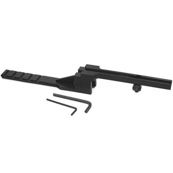 Adjustable co-witness mounting platform for M14/AR15 fixed carry handle