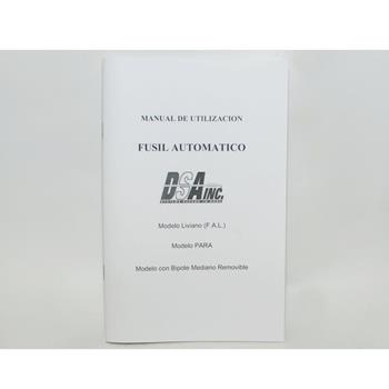 FAL DSA spanish owners manual 45 pages