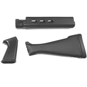 DSA FAL SA58 Metric Furniture Set - Black - Handguard, Pistol Grip & Humpback Stock