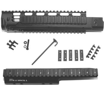 DSA FAL SA58 Metric Long Rail Handguard & Extended PARA Extreme Duty Scope Mount Combination