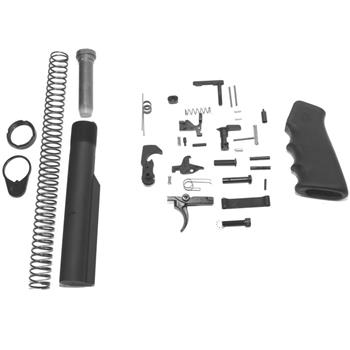 DSA AR15 Lower Receiver Build Kit - Lower Parts & Buffer Tube Kit - Hogue Pistol Grip