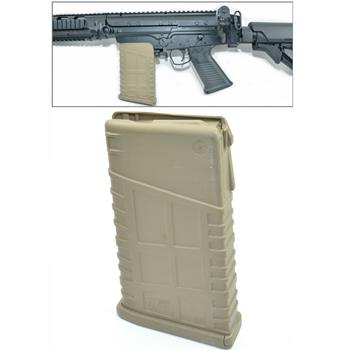Mosesmag for FAL/SA58 FDE dark earth polymer 20 rnd. mag 308/762 cal. Fits metric and inch pattern receivers