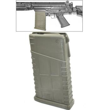 Mosesmag for FAL/SA58 OD green polymer 20 rnd. mag 308/762 cal. Fits metric and inch pattern receivers
