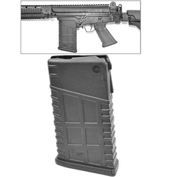 Mosesmag for FAL/SA58 black polymer 20 rnd. mag 308/762 cal. Fits metric and inch pattern receivers