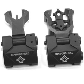 Diamondhead front & rear flip up sight combo for same sight plane pic gas blocks