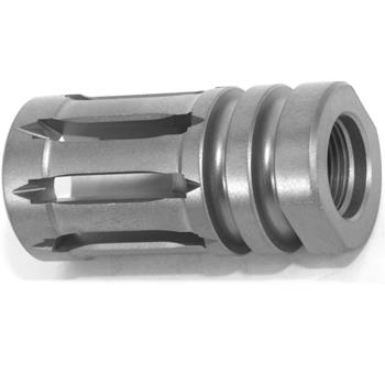 DSA AR15 Titanium Enhanced Bird Cage Short Flash Hider - 1/2x28 - Natrual Finish