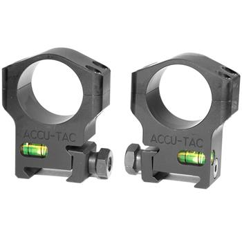 Accu-Tac 30mm Self Leveling Scope Rings - High