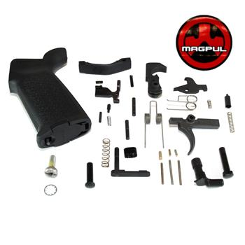 DSA AR15 Lower Receiver Internals Kit -  Black MOE Grip & Plastic Trigger Guard