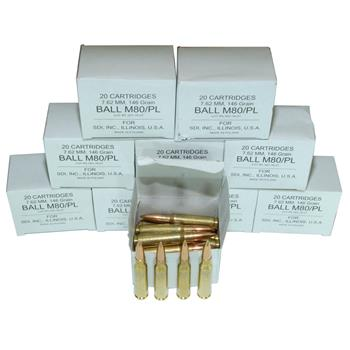 DS Arms 7.62x51MM NATO Ammunition - 146 Gr. FMJ - 200 Round Shooter Pack (10 BOXES)