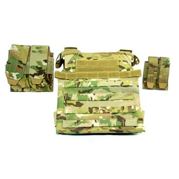 AR500 Sentry Plate Carrier w/ Pouches - No Armor - MultiCam