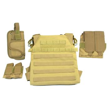 AR500 Sentry Plate Carrier w/ Pouches - No Armor - Coyote
