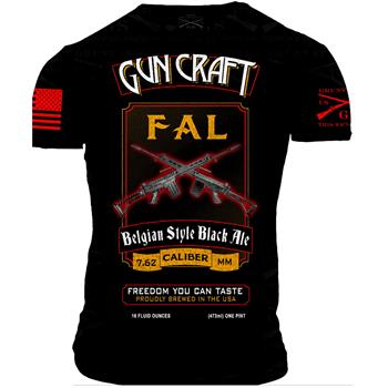 2nd Amendment Brewery - Gun Craft FAL Belgian Black Ale T Shirt - Small