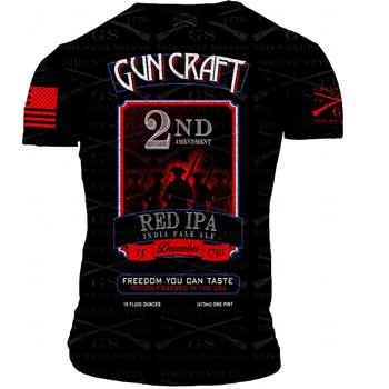 2nd Amendment Brewery - Gun Craft 2nd Amendment Red IPA T-Shirt - Double Extra Large