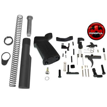 DSA AR15 Lower Receiver Build Kit - Lower Parts & Buffer Tube Kit - Magpul Pistol Grip & Trigger Guard