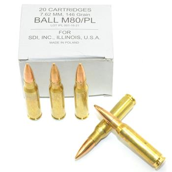 DS Arms 7.62x51MM NATO Ammunition - 146 Gr. FMJ - 20 Round Box
