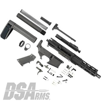 "DSA AR15 7.5"" 5.56 Pistol Kit - Complete Pistol Build Kit - Featuring 80% Lower"
