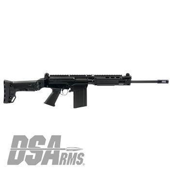 "DSA SA58 Improved Battle Carbine - 16"" Fluted Tactical Barrel, BRS Folding Stock"