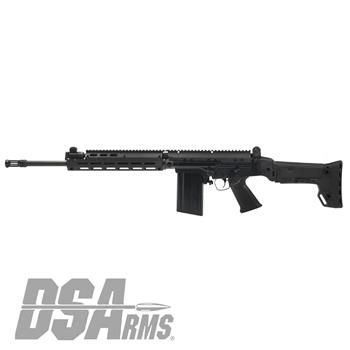 "DSA SA58 Improved Battle Rifle - 18"" Medium Contour Barrel, BRS Folding Stock"