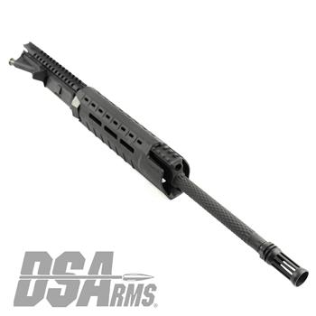 "DSA AR15 16"" WerkerZ Custom Knurl Fluted Chrome Lined Upper Assembly - Picatinny Gas Block"