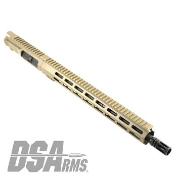 "DSA ZM4 AR15 Slim Series 5.56 NATO Upper Receiver Assembly - 16"" Mid-Length Barrel - FDE Finish"
