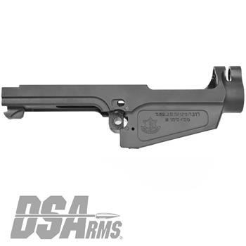 DSA SA58 Israeli Marked Stripped Semi Auto FORGED FAL Receiver - Type 1 Carry Handle Cut - 7.62x51mm