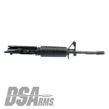 "DSA AR15 14.7"" Chrome Lined M4 1:7 Twist Sight Tower Upper Assembly - Pinned Flash Hider 16.4"" OAL"