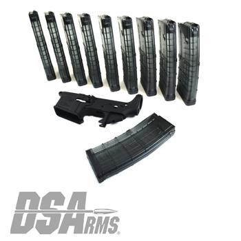 DSArms ZM4 AR15 Stripped Lower Receiver & Lancer AR15  Magaizne 10 Pack